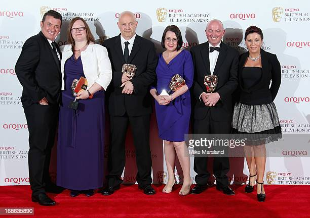 Shane Ritchie Lorraine Newman Simon Ashdown Ceri Meyrick Karl Neilson and Jessie Wallace with their Best Soap Continuing Drama for 'Eastenders'...