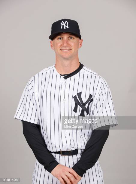 Shane Robinson of the New York Yankees poses during Photo Day on Wednesday February 21 2018 at George M Steinbrenner Field in Tampa Florida