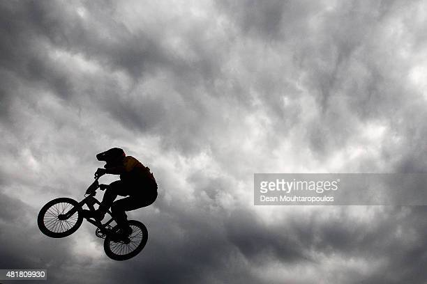 Shane Rosa of Australia competes in the Junior Mens Qualification Time Trial during day 4 of the UCI BMX World Championships at on July 24 2015 in...