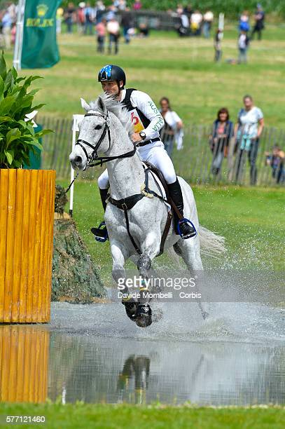 Shane Rose of Australia rides CP Qualified to second place in the DHLPrize Eventing CICO3 Nation Cup Cross Country event non July 16 2016 in Aachen...