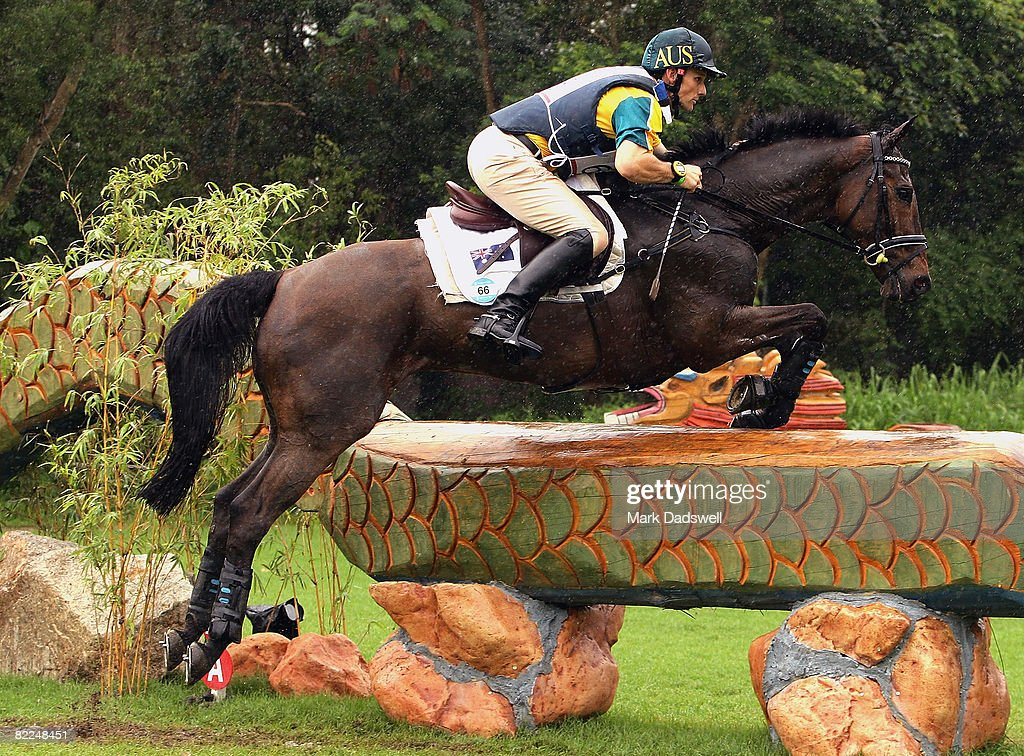 Shane Rose of Australia riding All Luck clears a jump during the... News  Photo - Getty Images