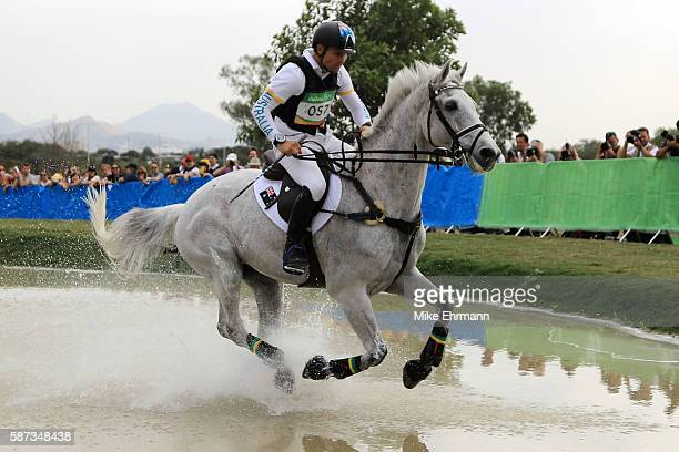 Shane Rose of Australia riding Cp Qualified competes during the Cross Country Eventing on Day 3 of the Rio 2016 Olympic Games at the Olympic...