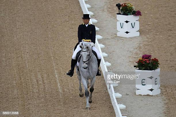 Shane Rose of Australia riding Cp Qualified competes in the Eventing Team Dressage event during equestrian on Day 2 of the Rio 2016 Olympic Games at...