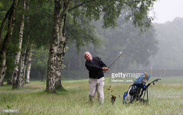 Shane Rose of Cold Ashby Golf Club plays out of the rough on the 7th hole during the Virgin Atlantic PGA National ProAm Championship Midland Regional...