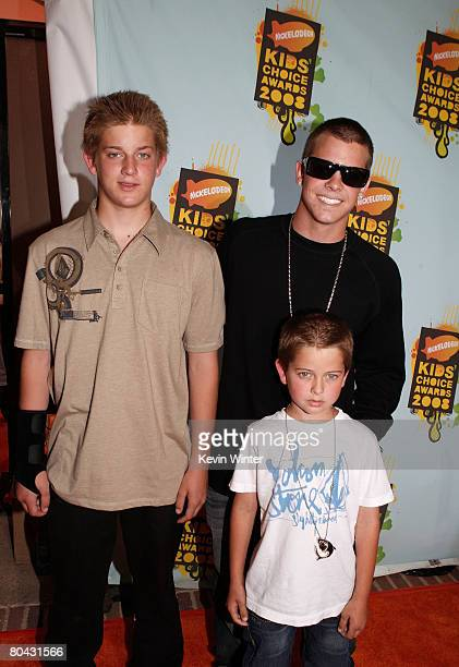 Shane Sheckler actor Ryan Sheckler and brother Kane Sheckler arrive at Nickelodeon's 2008 Kids' Choice Awards held at UCLA's Pauley Pavilion on March...