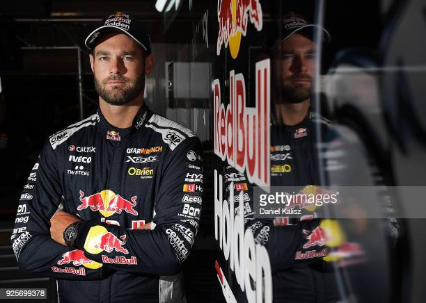 Shane Van Gisbergen driver of the Red Bull Holden Racing Team Holden Commodore ZB poses for a photo ahead of this weekend's Supercars Adelaide 500 at...