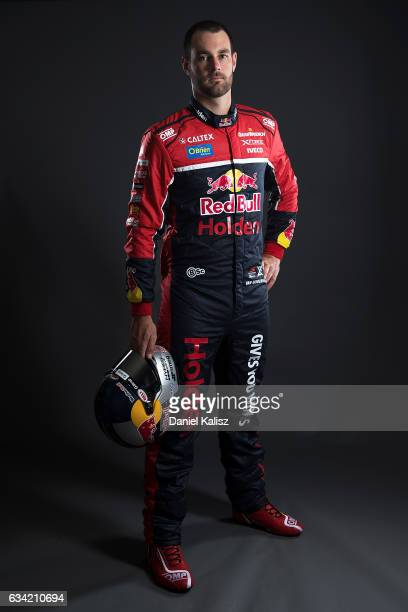 Shane Van Gisbergen driver of the Red Bull Racing Australia Holden Commodore VF poses during a portrait session during the 2017 Supercars media day...