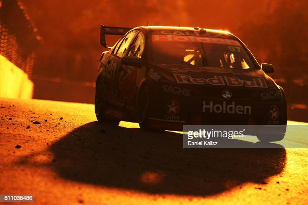 Shane Van Gisbergen drives the Red Bull Holden Racing Team Holden Commodore VF during race 14 for the Townsville 400 which is part of the Supercars...