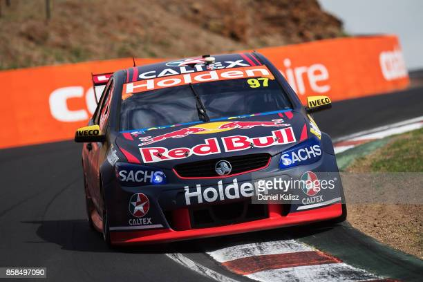 Shane Van Gisbergen drives the Red Bull Holden Racing Team Holden Commodore VF during practice ahead of this weekend's Bathurst 1000 which is part of...