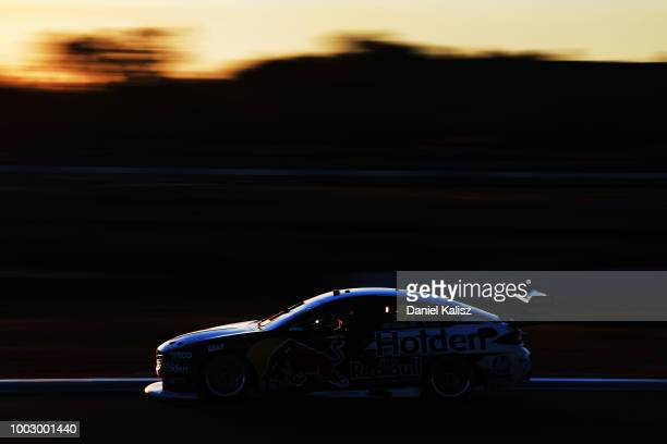 Shane Van Gisbergen drives the Red Bull Holden Racing Team Holden Commodore ZB during race 19 of the Supercars Ipswich SuperSprint on July 21 2018 in...
