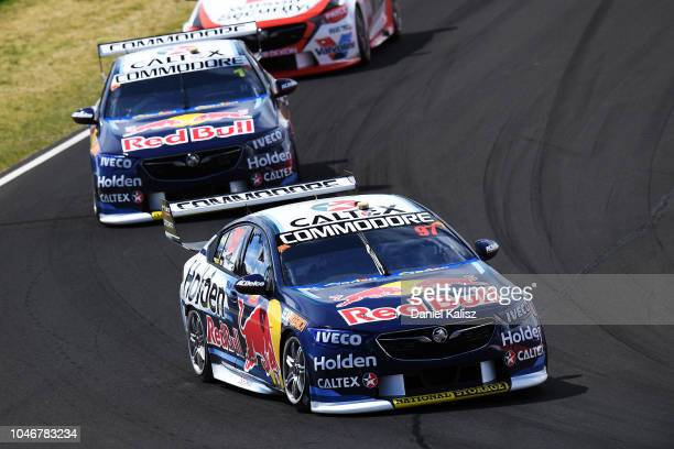 Shane Van Gisbergen drives the Red Bull Holden Racing Team Holden Commodore ZB during the Bathurst 1000 which is race 25 of the Supercars...
