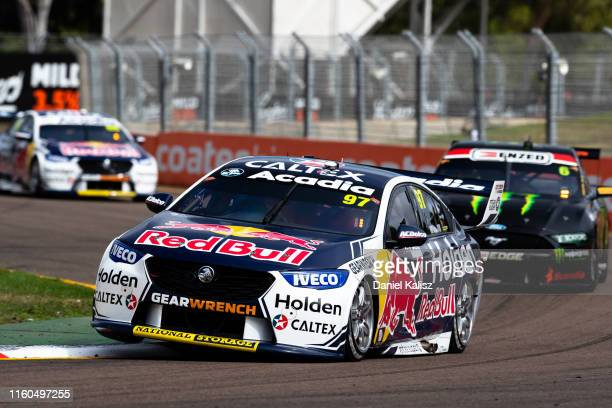 Shane van Gisbergen drives the Red Bull Holden Racing Team Holden Commodore ZB on July 07, 2019 in Townsville, Australia.