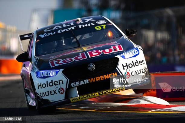 Shane van Gisbergen drives the Red Bull Holden Racing Team Holden Commodore ZB during race 1 for the Gold Coast 500 Supercars Championship round on...