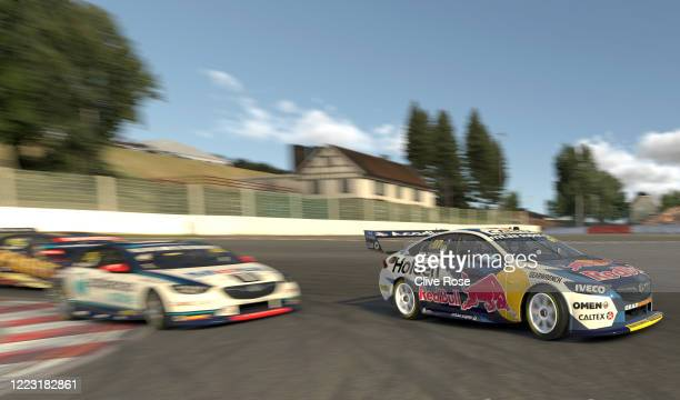 Shane van Gisbergen drives the Red Bull Holden Racing Team Holden Commodore ZB during round 5 of the Supercars All Stars Eseries at Circuit De...
