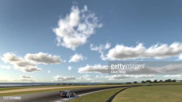 Shane van Gisbergen drives the Red Bull Holden Racing Team Holden Commodore ZB during round 8 of the Supercars All Stars Eseries at the Phillip...