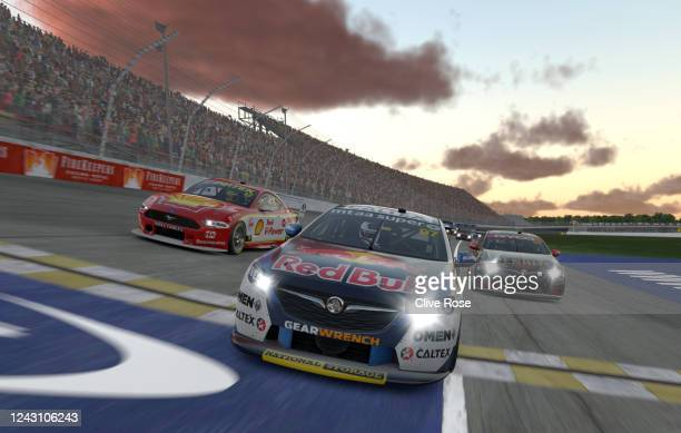 Shane van Gisbergen drives the Red Bull Holden Racing Team Holden Commodore ZB during round 9 of the Supercars All Stars Eseries at Michigan...