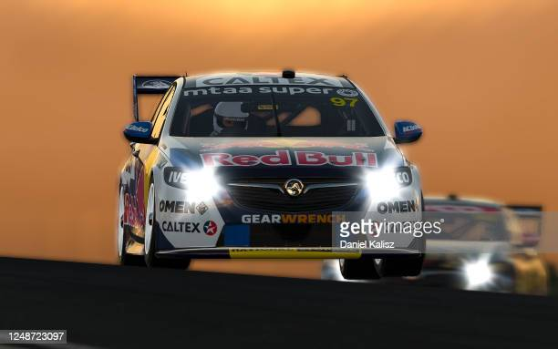 Shane van Gisbergen drives the Red Bull Holden Racing Team Holden Commodore ZB during round 10 of the Supercars All Stars Eseries at Oran Park Racway...
