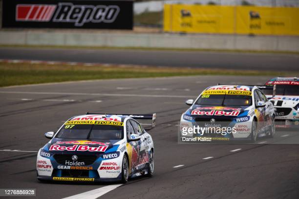 Shane van Gisbergen drives the Red Bull Holden Racing Team Holden Commodore ZB during race 2 of The Bend Supersprint round of the 2020 Supercars...