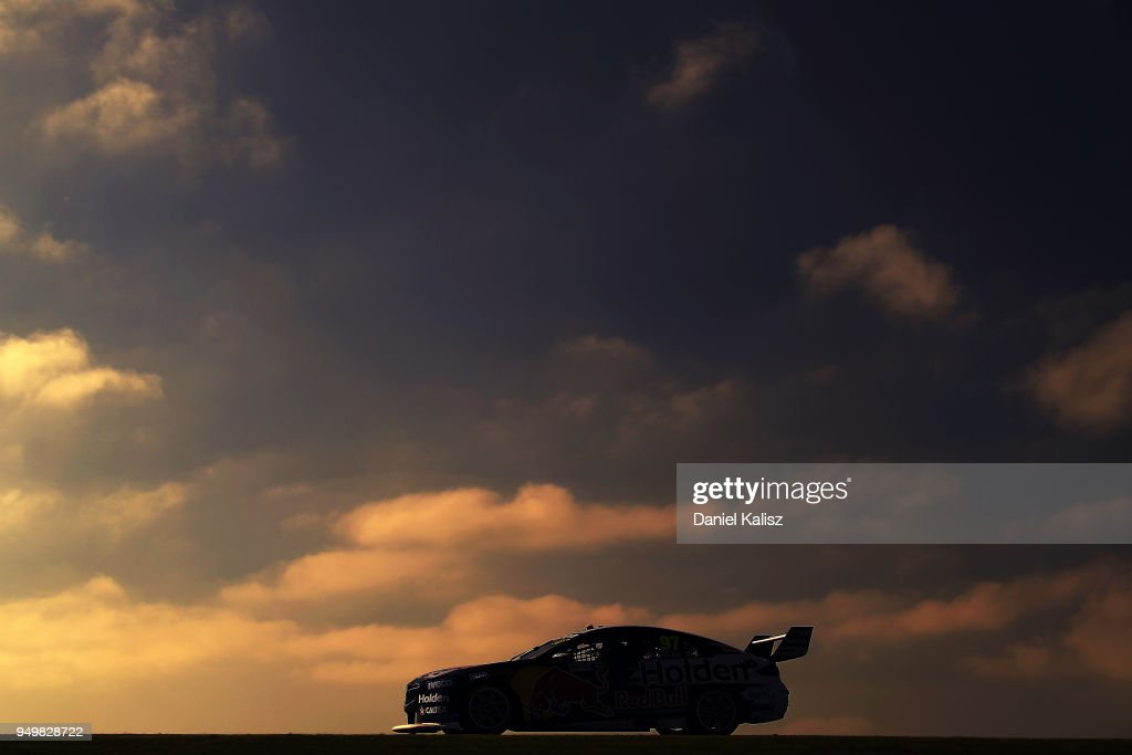 Shane Van Gisbergen drives the #97 Red Bull Holden Racing Team Holden Commodore ZB during race 10 for the Supercars Phillip Island 500 at Phillip Island Grand Prix Circuit on April 22, 2018 in Phillip Island, Australia.