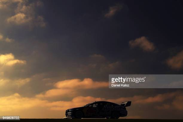 Shane Van Gisbergen drives the Red Bull Holden Racing Team Holden Commodore ZB during race 10 for the Supercars Phillip Island 500 at Phillip Island...