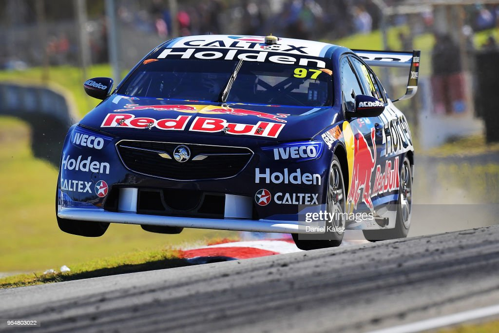 Shane Van Gisbergen drives the #97 Red Bull Holden Racing Team Holden Commodore ZB during the Supercars Perth SuperSprint at Barbagello Raceway on May 5, 2018 in Perth, Australia.