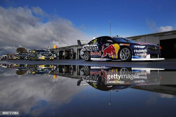 Shane Van Gisbergen drives the Red Bull Holden Racing Team Holden Commodore ZB during practice for the Supercars Winton SuperSprint on May 18 2018 in...