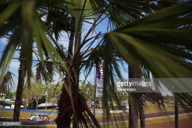 Shane Van Gisbergen drives the Red Bull Holden Racing Team Holden Commodore ZB during practice for the Supercars Darwin Triple Crown at Hidden Valley...