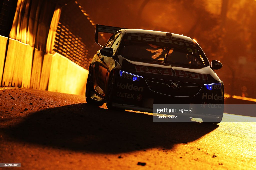 Shane Van Gisbergen drives the #97 Red Bull Holden Racing Team Holden Commodore ZB during race 18 of the Supercars Townsville 400 on July 8, 2018 in Townsville, Australia.