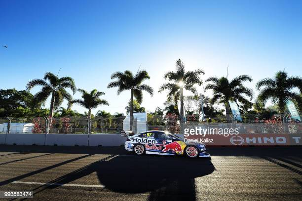 Shane Van Gisbergen drives the Red Bull Holden Racing Team Holden Commodore ZB during race 18 of the Supercars Townsville 400 on July 8 2018 in...