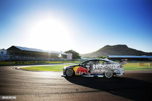 Shane Van Gisbergen drives the Red Bull Holden Racing Team Holden Commodore ZB during race 18 of the Supercars Townsville 400 on July 8, 2018 in...