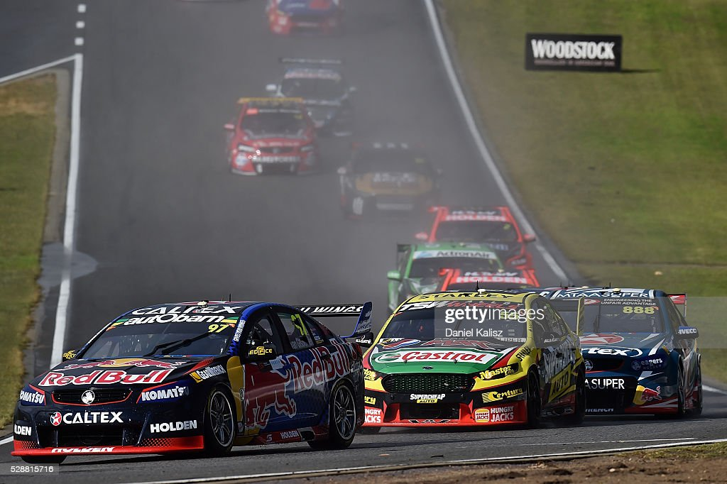 Shane Van Gisbergen drives the #97 Red Bull Racing Australia Holden Commodore VF during race 1 for the V8 Supercars Perth SuperSprint at Barbagallo Raceway on May 7, 2016 in Perth, Australia.