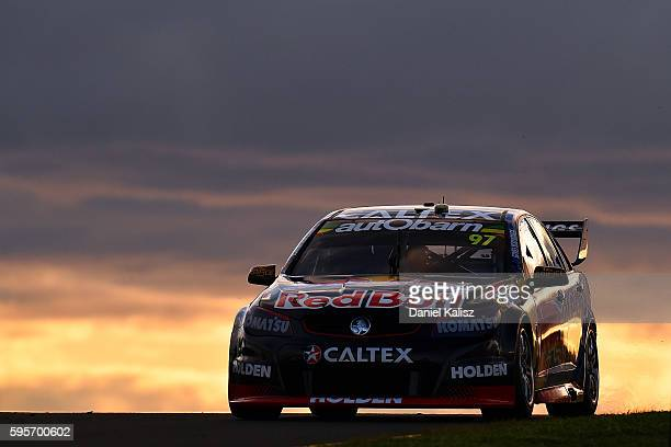 Shane Van Gisbergen drives the Red Bull Racing Australia Holden Commodore VF during practice for the V8 Supercars Sydney SuperSprint at Sydney...