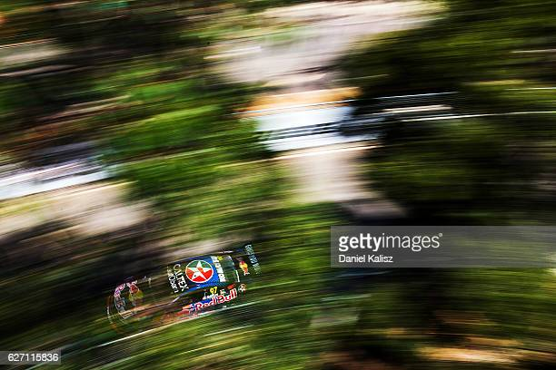 Shane Van Gisbergen drives the Red Bull Racing Australia Holden Commodore VF during practice for the Sydney 500 which is part of the Supercars...