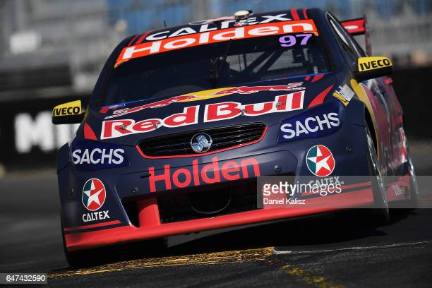 Shane Van Gisbergen drives the Red Bull Racing Australia Holden Commodore VF during the Clipsal 500 which is part of the Supercars Championship at...
