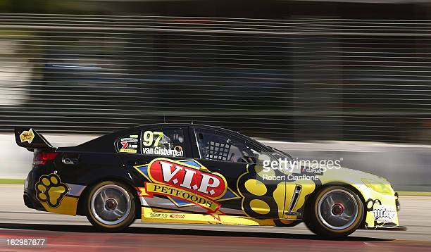 Shane Van Gisbergen drives the Tekno Autosports Holden during race two of the Clipsal 500 which is round one of the V8 Supercar Championship Series...