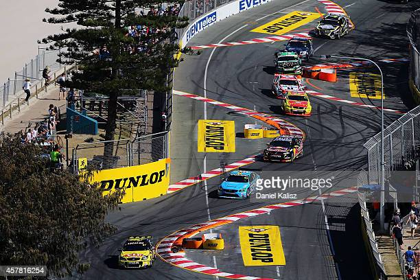 Shane van Gisbergen drives the TEKNO VIP Petfoods Holden during the race for the Gold Coast 600 which is round 12 of the V8 Supercars Championship...