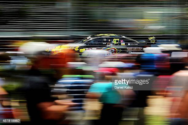 Shane van Gisbergen drives the TEKNO VIP Petfoods Holden during the top ten shootout for the Gold Coast 600 which is round 12 of the V8 Supercars...