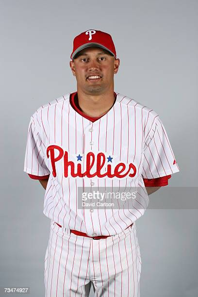 Shane Victorino of the Philadelphia Phillies poses during photo day at Bright House Networks Field on February 24 2007 in Clearwater Florida
