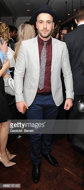Shane Ward attends the launch of new book 'My Fight To The Top' by Ultimo founder Michelle Mone at Salmontini on March 12 2015 in London England