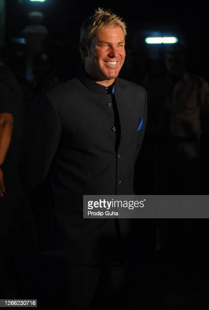 Shane Warne attends the IPL opening celebration on March 11, 2010 in Mumbai, India.