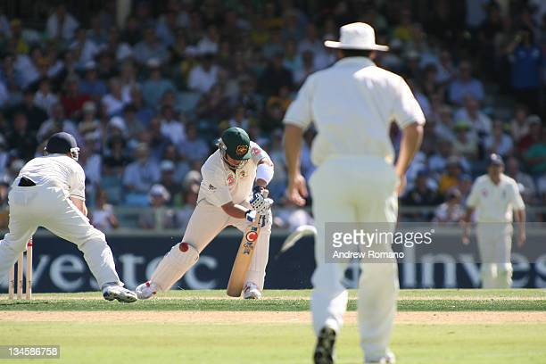 Shane Warne during the 3 Ashes Third Test First Day at the WACA Ground in Perth Australia on December 14 2005