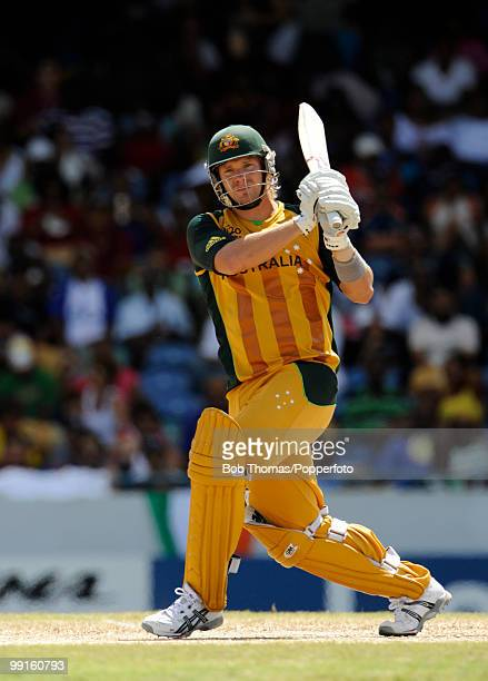 Shane Watson batting for Australia during the ICC World Twenty20 Super Eight match between Sri Lanka and Australia at the Kensington Oval on May 9...