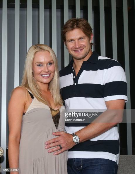 Shane Watson of Australia and his pregnant wife Lee ...