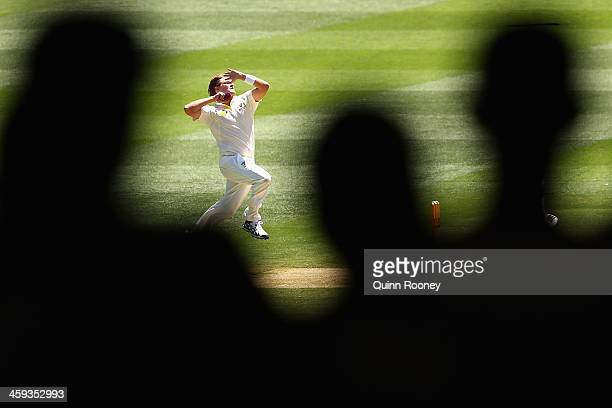 Shane Watson of Australia bowls during day one of the Fourth Ashes Test Match between Australia and England at Melbourne Cricket Ground on December...