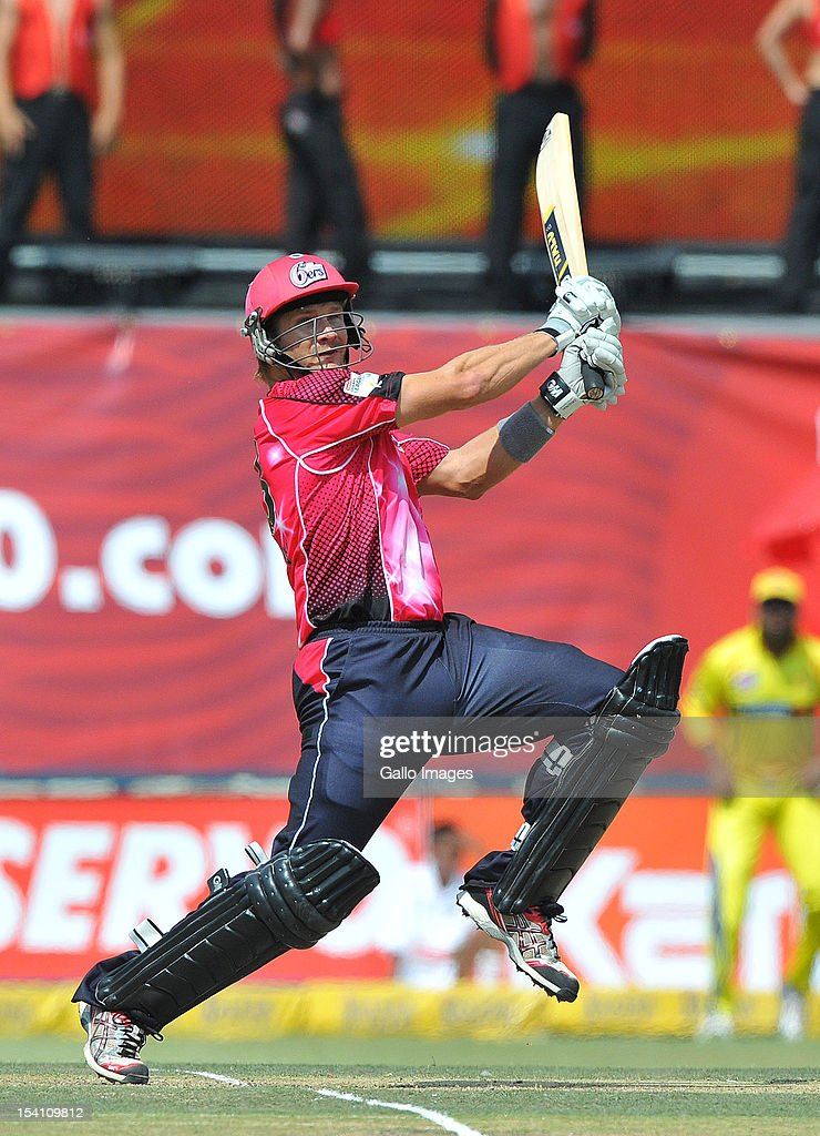 Shane Watson of the Sixers sets off for a run during the Champions League Twenty20 match between Chennai Super Kings and Sydney Sixers at Bidvest Wanderers Stadium on October 14, 2012 in Johannesburg, South Africa.