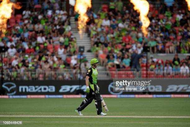 Shane Watson of the Thunder is pictured during the Big Bash League match between the Sydney Thunder and the Adelaide Strikers at Spotless Stadium on...