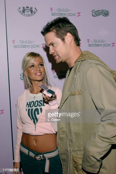Shane West and guest during TMobile Sidekick II Custom Series Launch Party Red Carpet at TMobile Sidekick II City in Los Angeles California United...