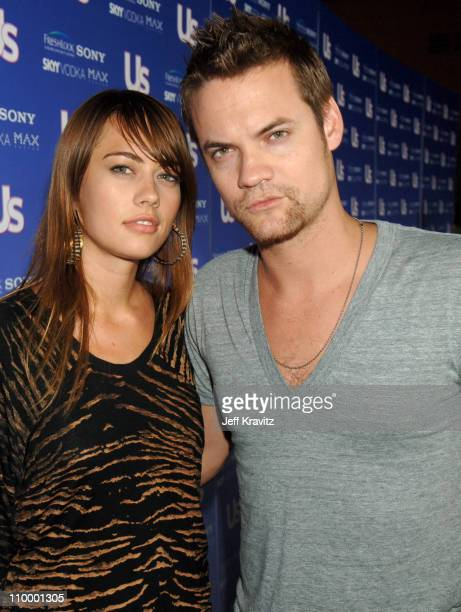 Shane West and guest during US Weekly's Hot Hollywood Fresh 15 Red Carpet and Arrivals at Area in West Hollywood California United States