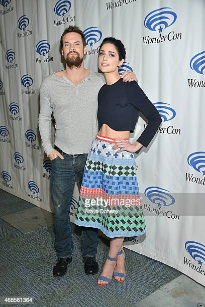 Shane West and Janet Montgomery attend Salem Cast and Filmmakers press line at WonderCon Anaheim 2015 at Anaheim Convention Center on April 3 2015 in...