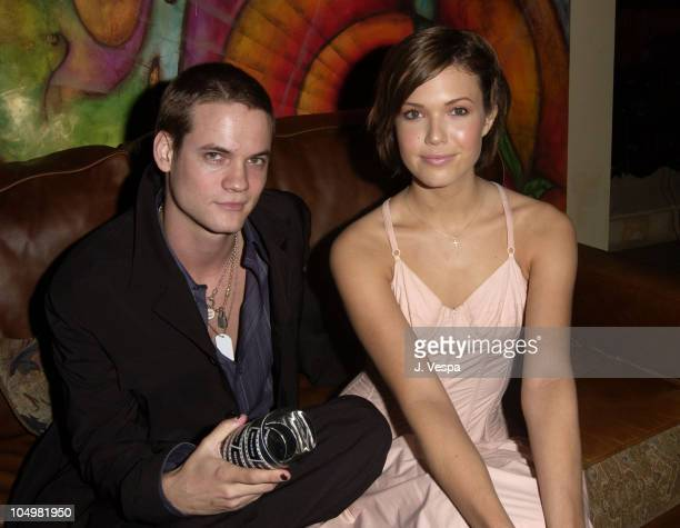 Shane West and Mandy Moore during Movieline's 4th Annual Young Hollywood Awards Inside at The Highlands in Hollywood California United States